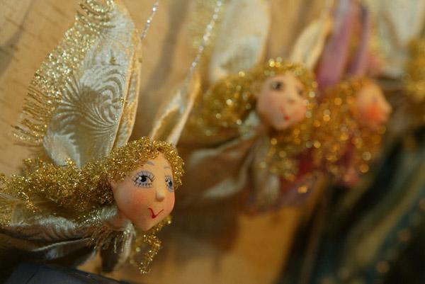 Золотые ангелочки  авторская кукла