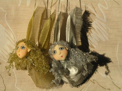 Золотые и серебряные  авторская кукла