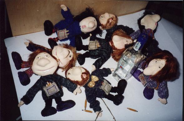 Пьяные преподы  авторская кукла