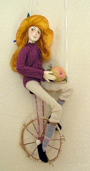 Возвращение из лета  авторская кукла