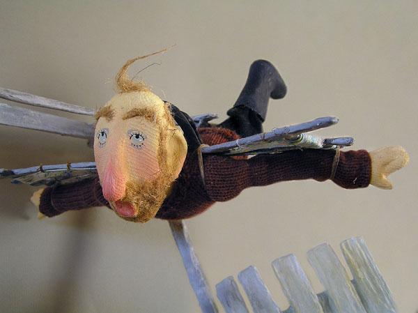 Полёт  авторская кукла