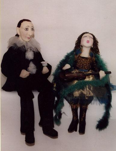 Парочки  авторская кукла