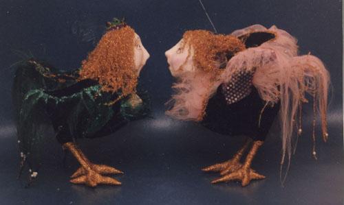 Птицы сирин  авторская кукла