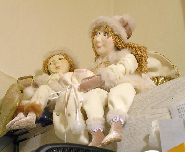 В ожидании вылета  авторская кукла