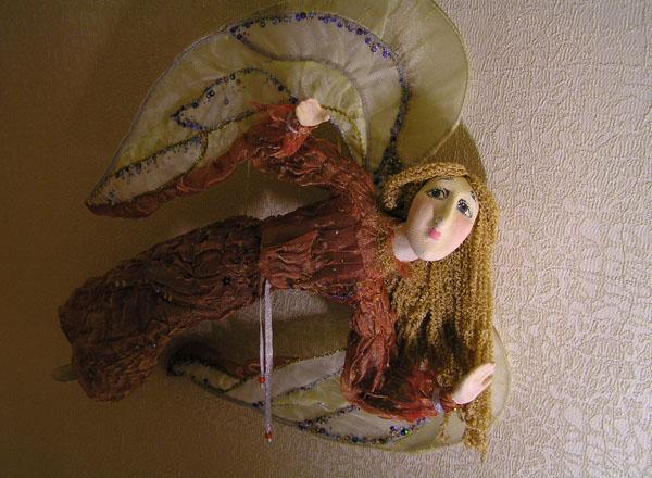 Летящий ангел  авторская кукла