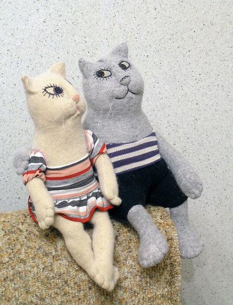 Коты  авторская кукла