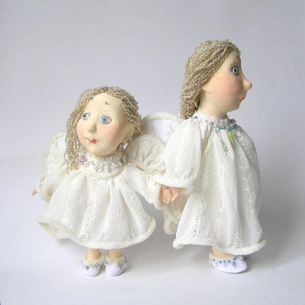 Ангелы  авторская кукла