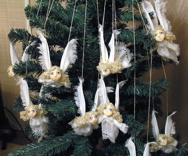 новогодняя игрушка ангел своими руками