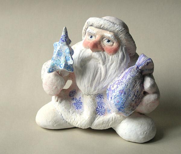 Дед Мороз авторская кукла папье-маше