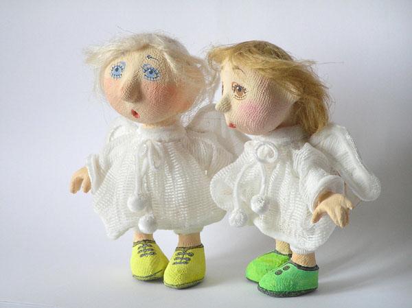 Авторская кукла папье-маше текстиль