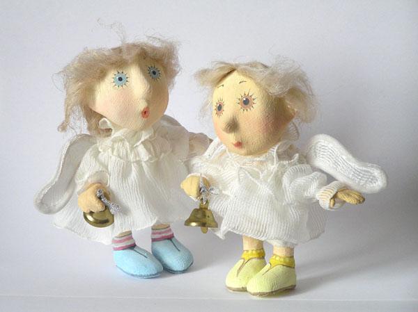 Ангелочки Авторские куклы папье-маше текстиль