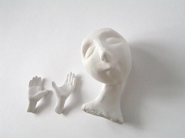 папье-маше голова руки